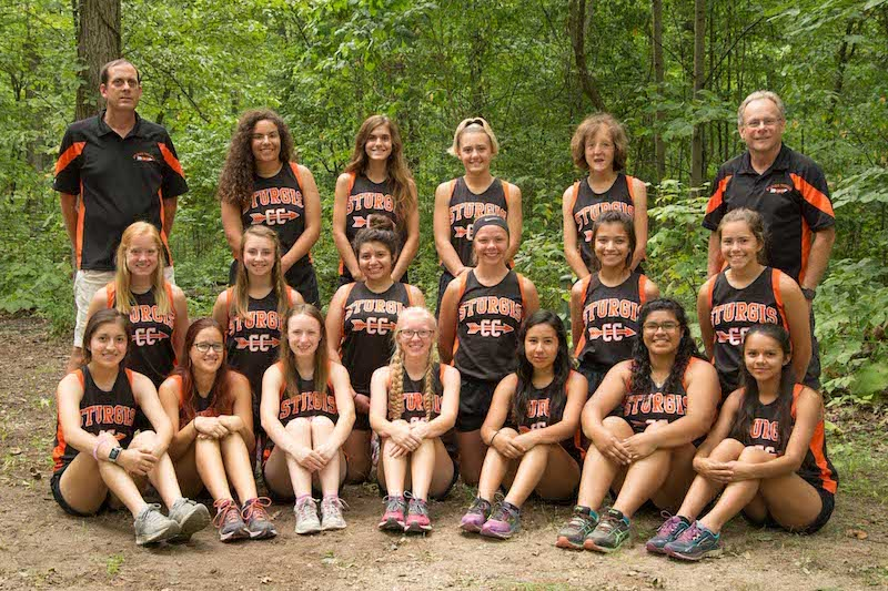 Scheske and Yunker lead Sturgis girls cross country to second-place finish at Kiwanis Invite