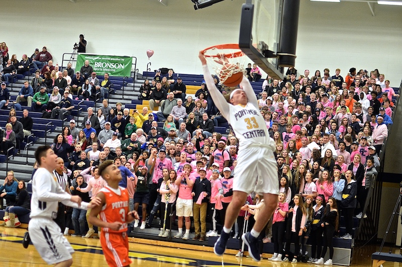 Portage Central boys hang on for overtime basketball win vs. rival Portage Northern