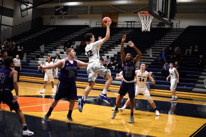 Battle Creek Lakeview rallies, tops Gull Lake in overtime of Class A district basketball opener