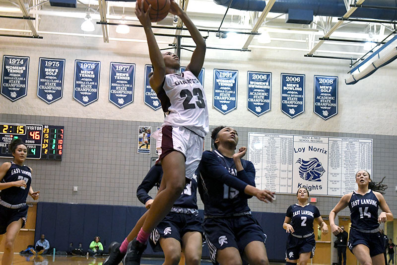 Kalamazoo Central's second-half comeback comes up short against No. 2 East Lansing in Class A regional semis