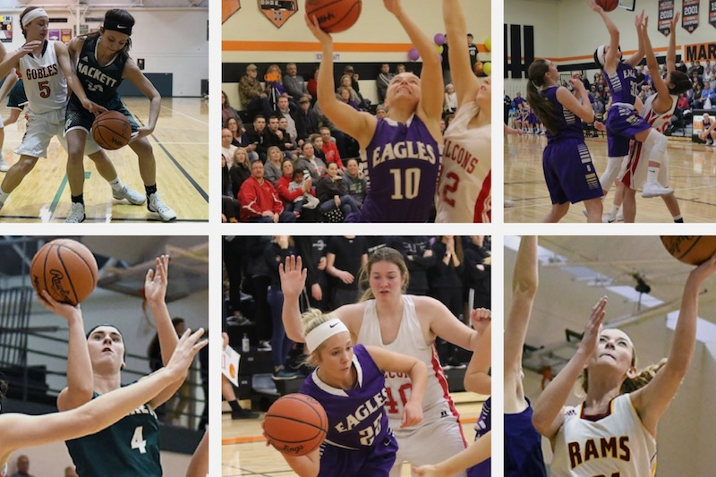 Total of 16 players from St. Joseph and Kalamazoo Counties snag spots on the All-SAC Valley Division girls basketball teams