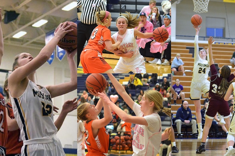 Portage Central girls basketball team nets four All-SMAC East Division First Team selections
