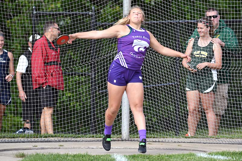 Three Rivers senior Izabella Taylor earns all-state status in the shot put to lead local athletes at the Division 2 track and field state finals