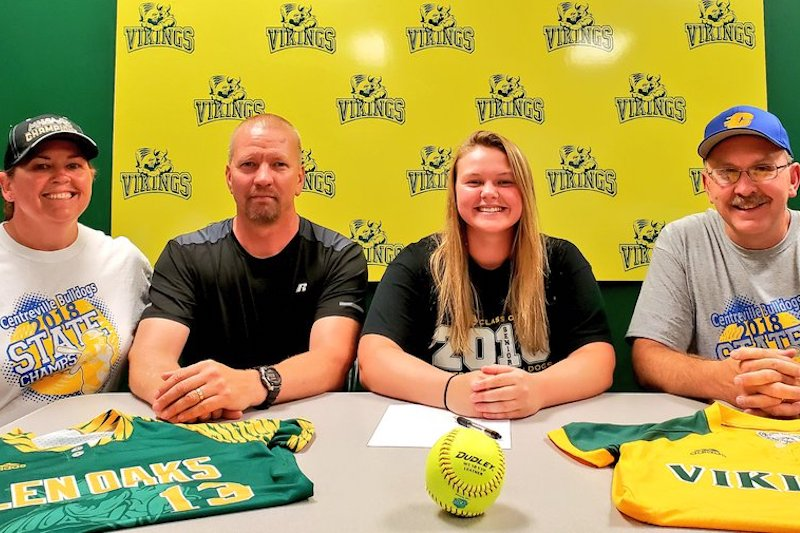 The Next Level: Centreville's Russell signs to play softball at Glen Oaks