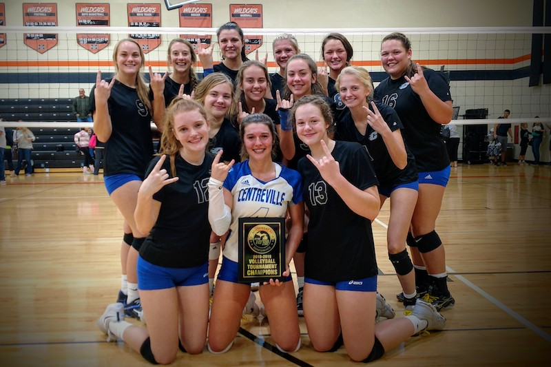 Volleyball Roundup: Centreville claims Southwest 10 Conference tourney title