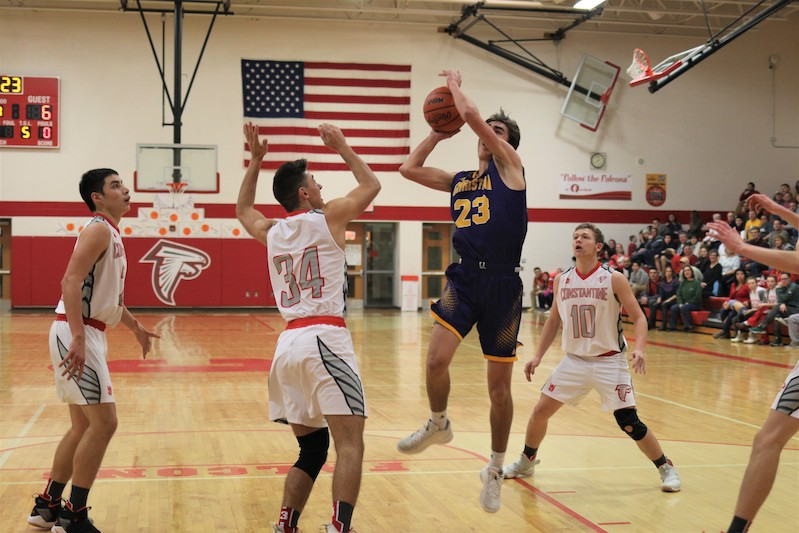 After 12 lead changes, Kalamazoo Christian boys secure 57-51 win at Constantine