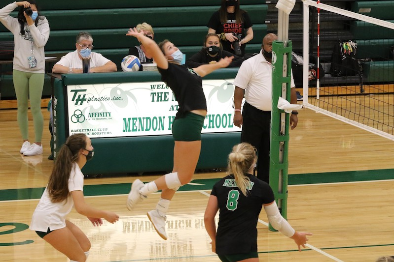 Mendon, Sturgis compete in volleyball quad Monday