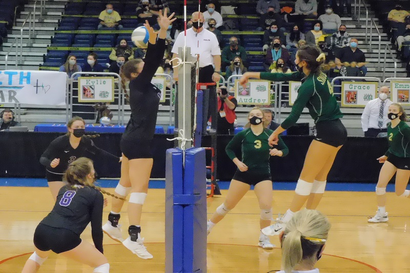St. Mary sweeps Schoolcraft in volleyball championship