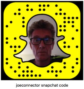 Joe Kennedy is @joeconnector on Snapchat