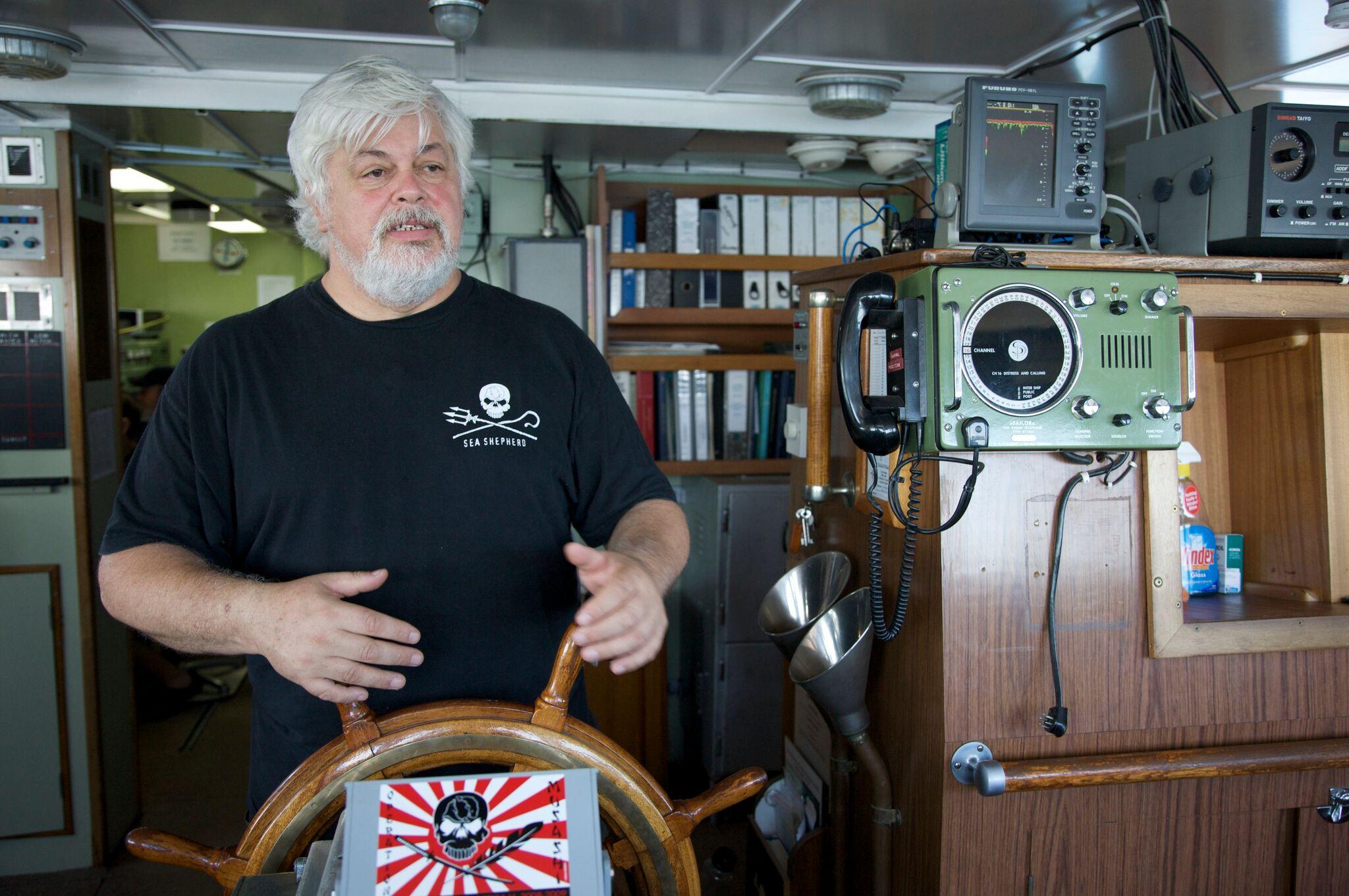 Captain Paul Watson of Whale Wars and Sea Shepherd in San Diego Saturday
