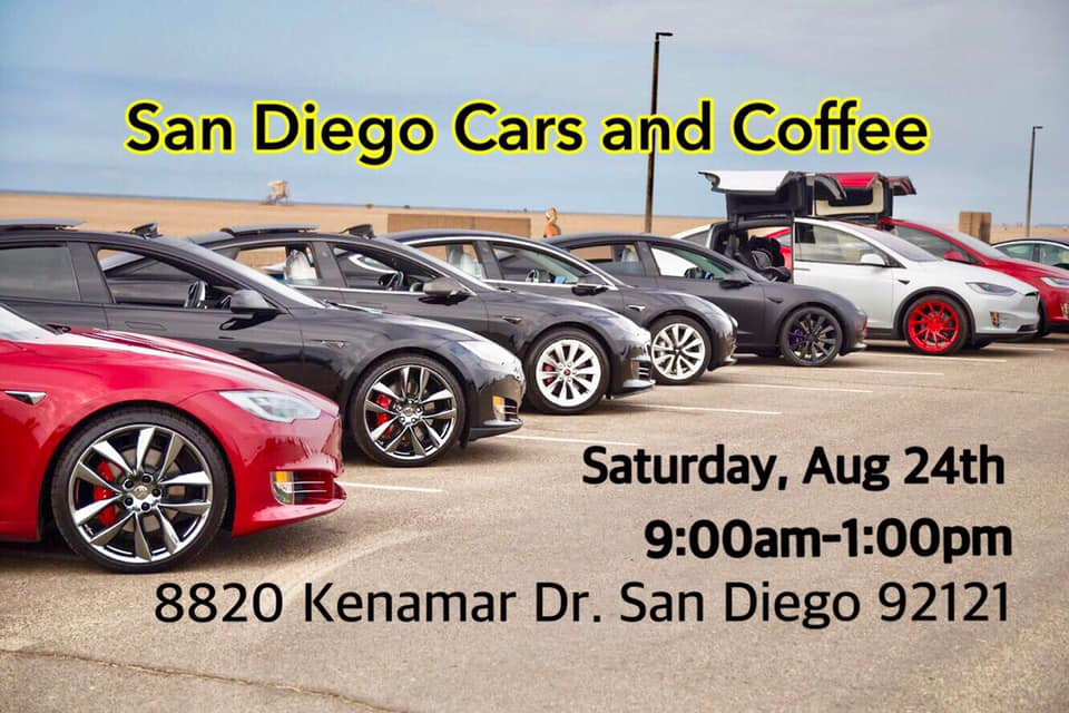 San Diego Cars and Coffee with Tesla Club SoCal