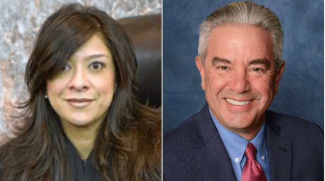 US District Judge Esther Salas left husband Mark Anderl right