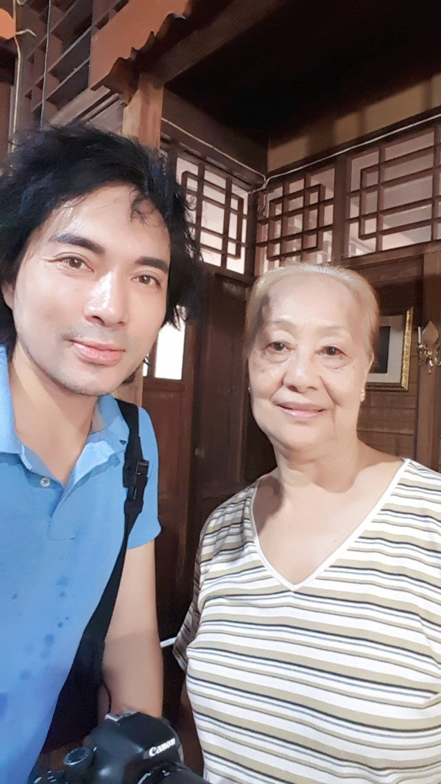 Me with Ruth Sapalleda Garingo, cousin of the owner and caretaker of the Aldren Tac-An Nacion Ancestral House