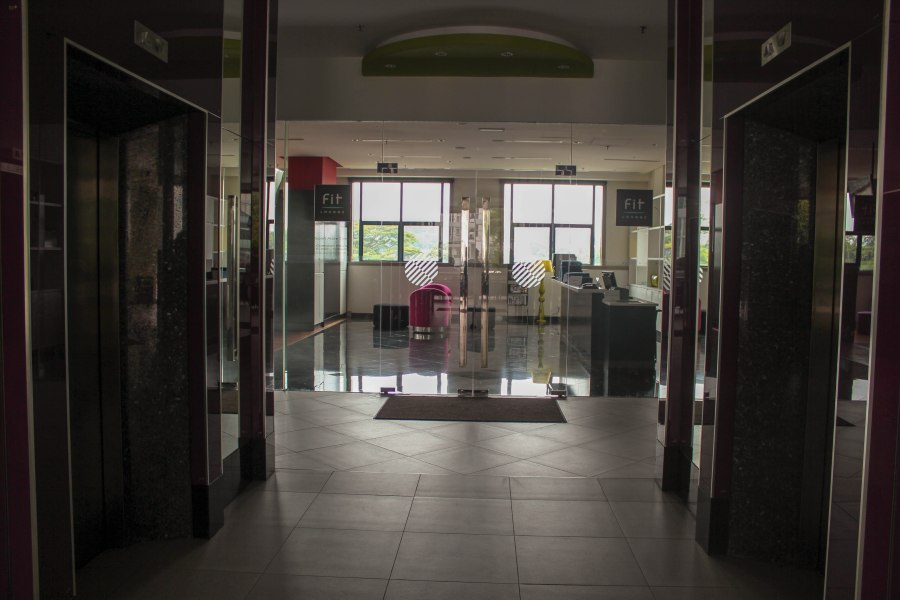 Entrance to the fitness center which is located at the 4th floor of Pullman KL Bangsar Hotel