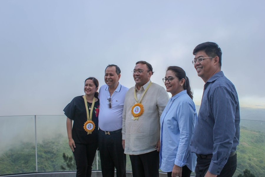 From left to right: May Salvana- Unchuan, Department of Tourism Region 10 Regional Director; Hon. Henry Oaminal, District Representative Misamis Occidental 2nd District; Hon. Harry Roque, Jr., Appointed Presidential Spokesperson; Dr. Jenifer Tan and Mayor Philip Tan, Tangub City.
