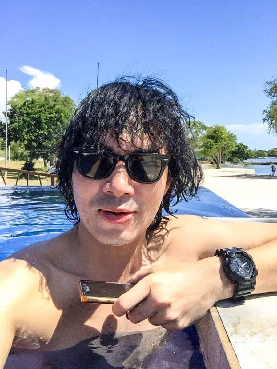 Me in the sun in Porto Laiya, San Juan, Batangas