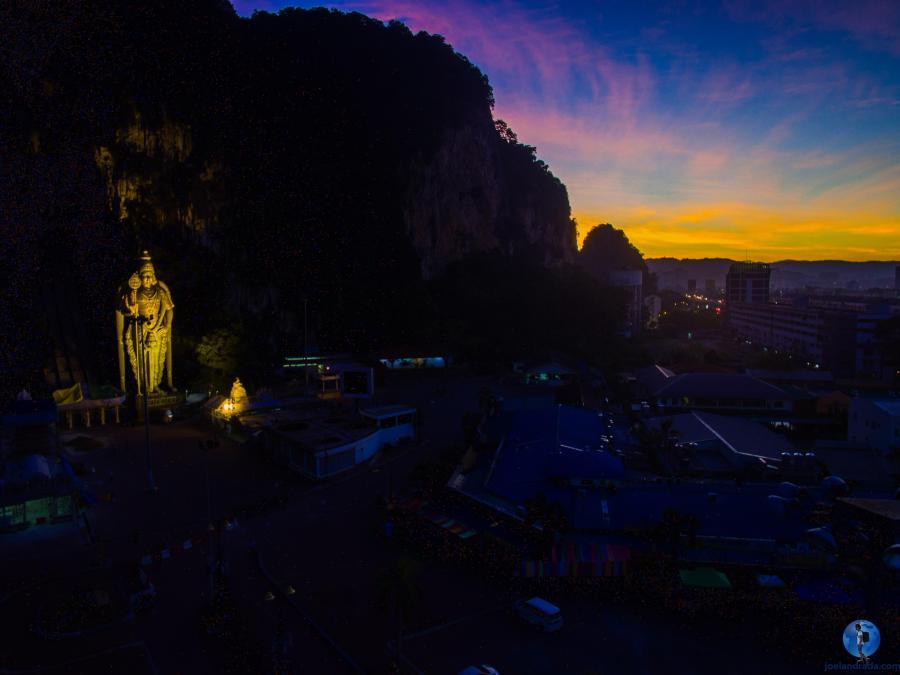 Batu Caves at sunrise