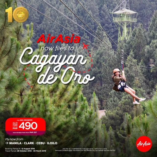 SMPost_AirAsia now flies to Cagayan De Oro