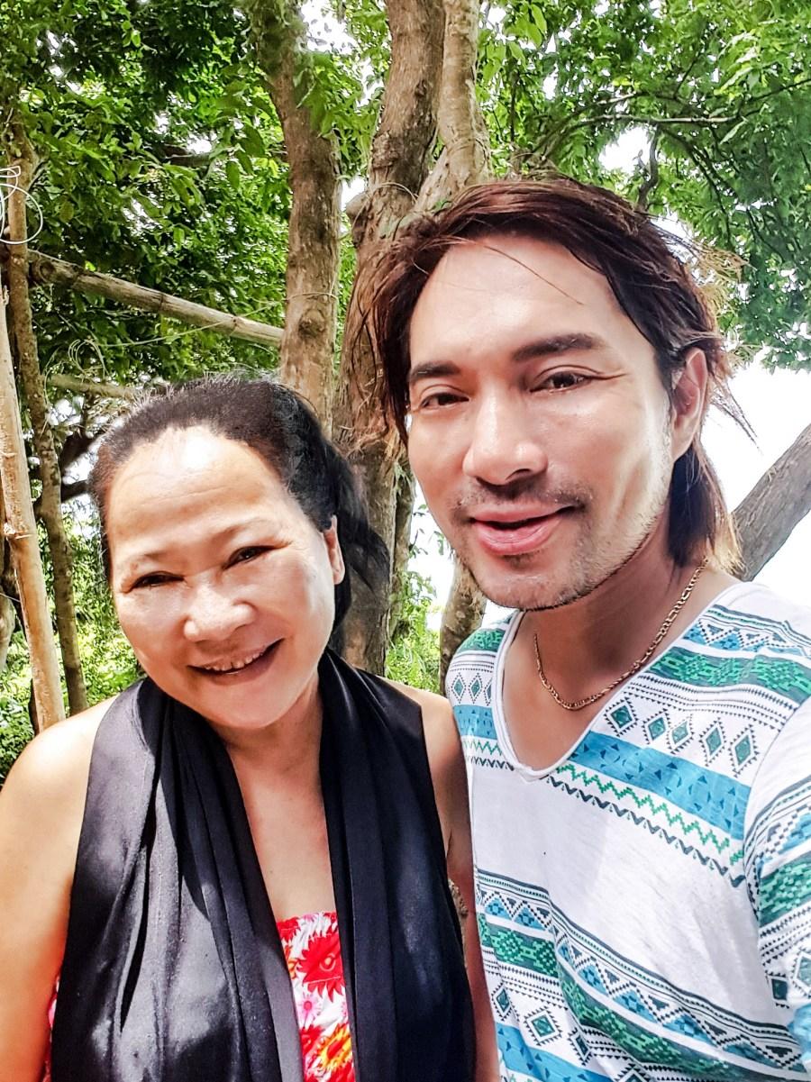 Selfie with Ms. Rowena Amancio, owner of Nature's Eye Beach Resort in Guimaras.