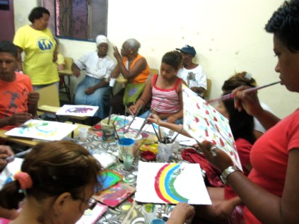 Rio de Janeiro, 2012: This workshop included the participation of elders who told the history of the community to the younger generation. City of God, Rio de Janeiro
