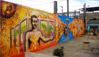 Youth mural in the City of God