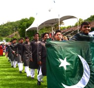 Team Pakistan during the opening ceremony