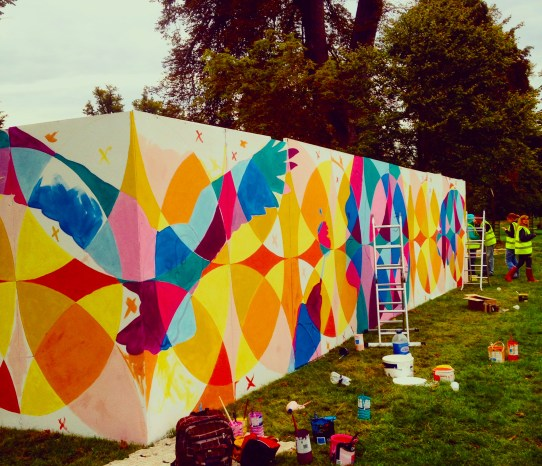 Getting started on the Greenbelt mural!