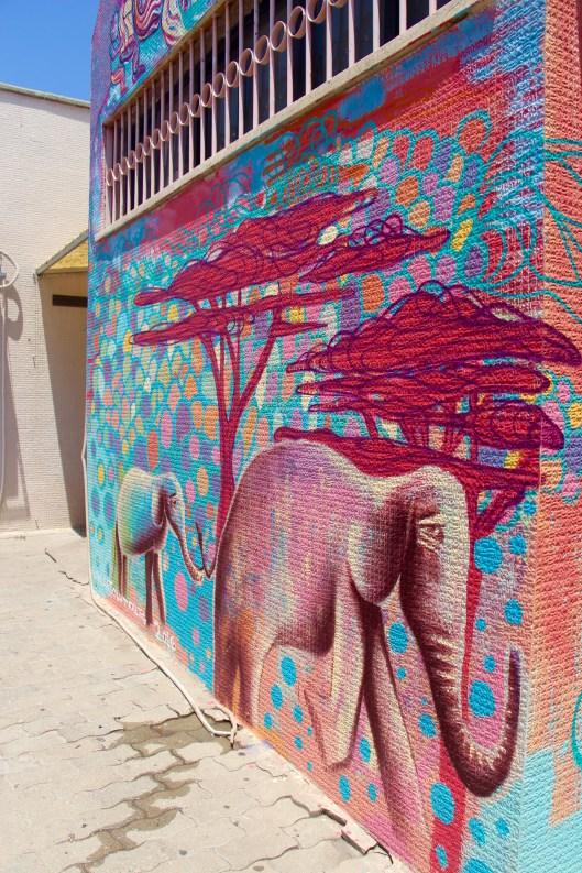mural detail in Tel Aviv