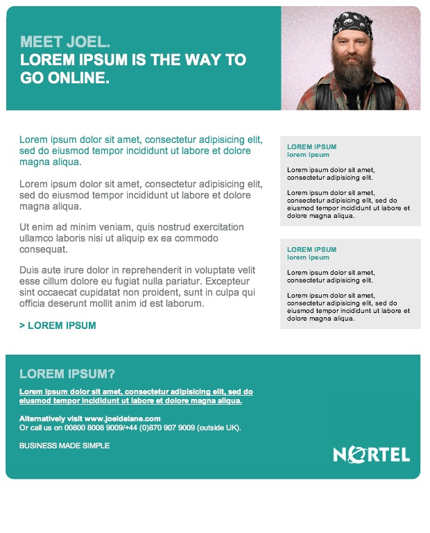 Nortel Newsletter Template