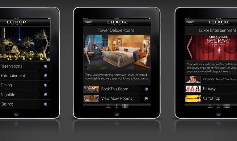 Luxor Hotel App Design