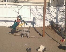 Spencer's swing contraption