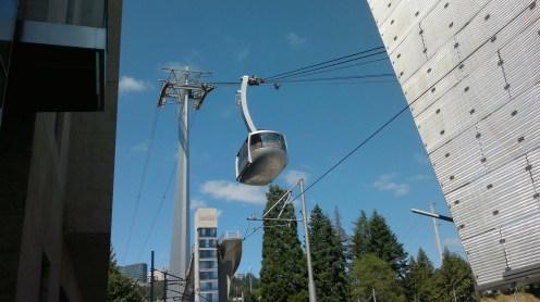 Portland Aerial Tram Descending
