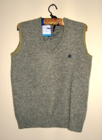 grey wool sleeveless jumper