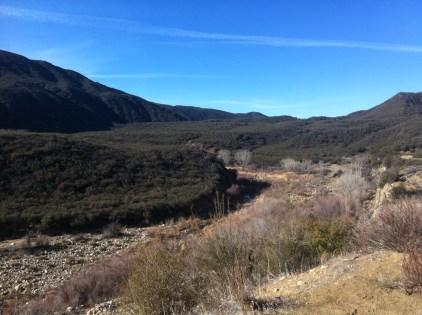 Sespe River. Dry.