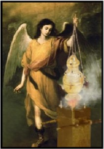angel and incense