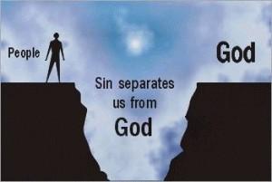 sin separates us