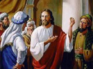 Jesus explains the resurrection to the Sadducees.