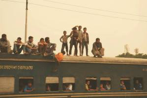 Train riding in Bangladesh