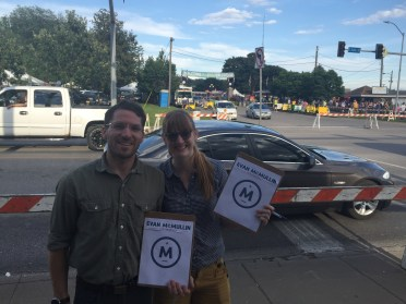 Kate and Dillon from Des Moines gather petitions!