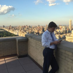 John Claybrook enjoying the view of Central Park