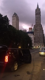 Early morning in NYC - we used a LOT of UBER!
