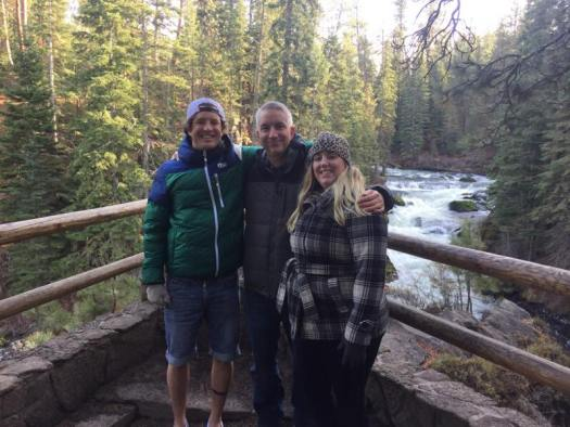 My brother Jeff, me and sister Jamie at Benham Falls, OR.