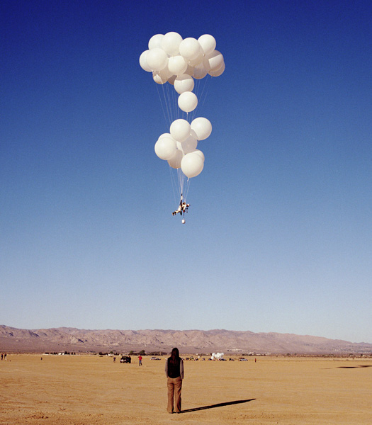 Searching For The Impossible: The Flying Project is a film and art installation by Joel Tauber that contemplates the relationships between flight and metaphysics. It chronicles Tauber's numerous failed attempts to fly before he achieves success: Tauber flies 150 feet over the desert for an hour and a half in a musical flying machine that he constructs. The art installation consists (in its most complete form) of a 32-minute film, a series of photographs, and the musical flying machine / sculpture.