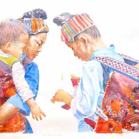 la decouverte, aquarelle de joel Tenzin