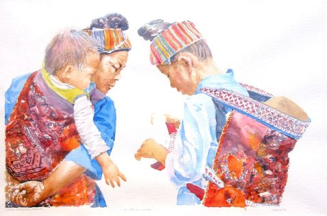 La_Decouverte, aquarelle joel Tenzin