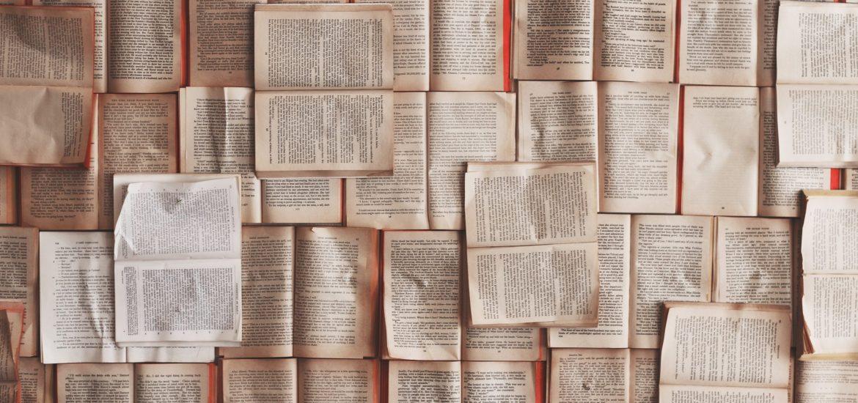 books on floor