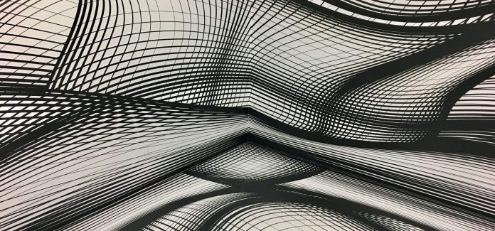an artistic depiction of what dimensionality might be percieved as, using lines