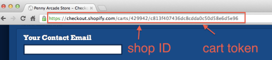 Shopify checkout URL