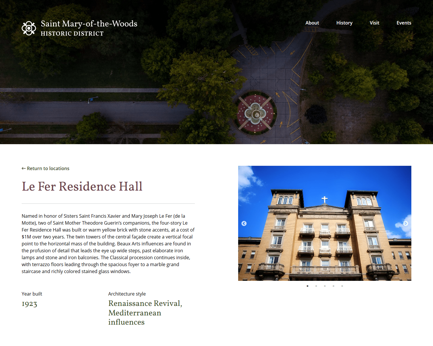 SMW Historic District location page