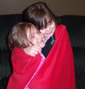 Middle Monster hugs (chokes) Littlest Monster